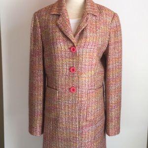 Vintage pink tweed coat